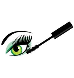 eye green mascara vector image vector image