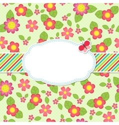Floral background with a frame vector image vector image