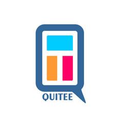 letter design emblem vector image vector image