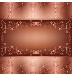Ornamental background with seamless pattern vector image