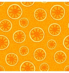 Seamless pattern with oranges vector image vector image