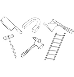 Six different kinds of tools vector image vector image