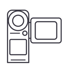 video cameramovie making line icon sign vector image vector image