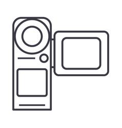 video cameramovie making line icon sign vector image
