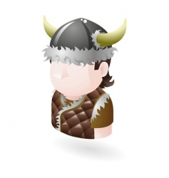 viking icon vector image vector image