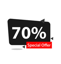 70 special offer template design vector
