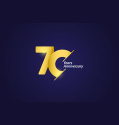 70 years anniversary celebration gold logo vector