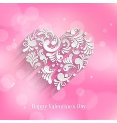 Abstract floral heart background vector
