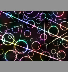 abstract of classic geometric pattern neon vector image