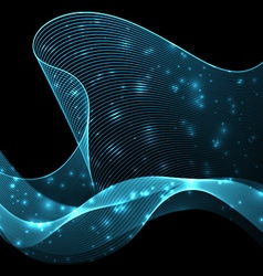 Abstract wave futuristic background vector
