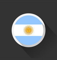 argentina national flag on dark background vector image