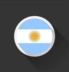 Argentina national flag on dark background vector