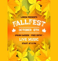 Autumn harvest festival fall season banner design vector