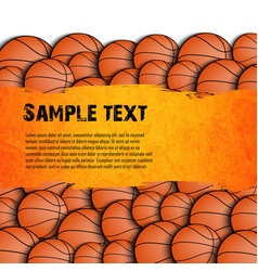 basketball grunge background vector image vector image