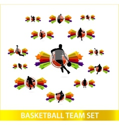 basketball team vector image