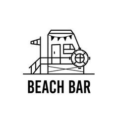 beach bar logo design vector image