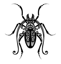 Beautiful Beetle Exotic Insect vector image