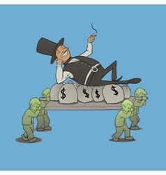 billionaire boss vector image