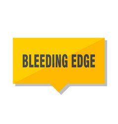 Bleeding edge price tag vector
