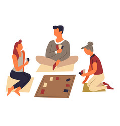 Board game or play cards family entertainment and vector