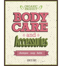 Body Care vector image