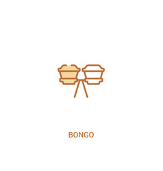 Bongo concept 2 colored icon simple line element vector