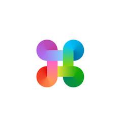 bowen knot symbol logo icon design template vector image