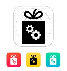 Box with gear icon vector