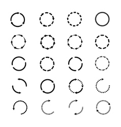 Circle arrows icons set Reload rotation vector