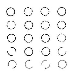 Circle arrows icons set Reload rotation vector image