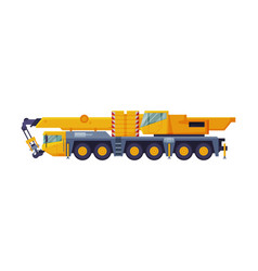 Construction crane heavy cargo transportation vector