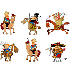 Cowboys and bandits collection vector
