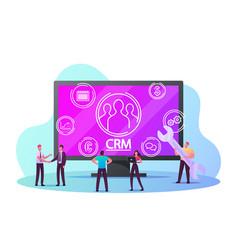 crm system customer relationship management vector image