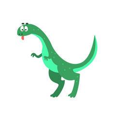 Cute cartoon brachiosaurus dinosaur prehistoric vector