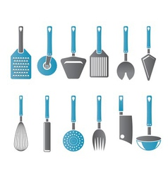 different kind of kitchen accessories vector image