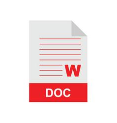 doc format file vector image