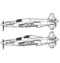 Dornier do335 pfeil vector