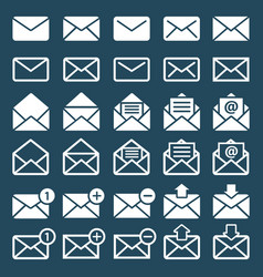 E-mail mail or sms icons vector