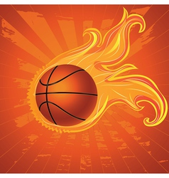 Fire Basketball Ball vector