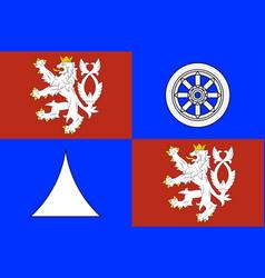 Flag liberec region in czech republic vector