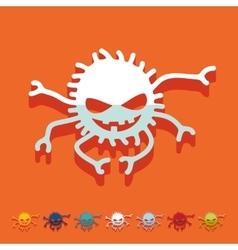 Flat design spider vector image