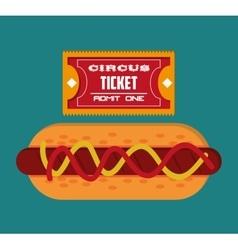 Food ticket of carnival design vector
