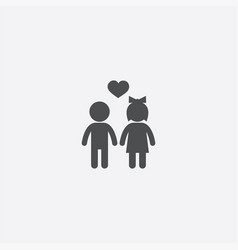 girl and boy icon vector image