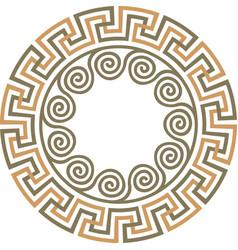 greek ornament meander vector image