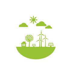 Green energy ecology vector