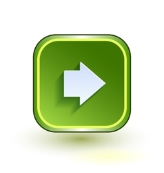 Green web button with arrow right sign Rounded vector image