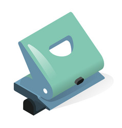 Hole punch or paper puncher isometric icon office vector