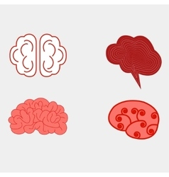 Human brain views set vector image