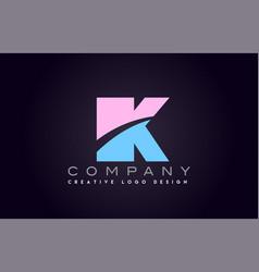 Ik alphabet letter join joined letter logo design vector