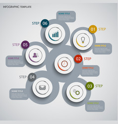 info graphic with abstract design round pointers vector image